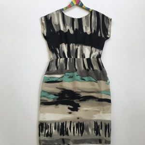Peruvian Connection Abstract Print Silk Dress